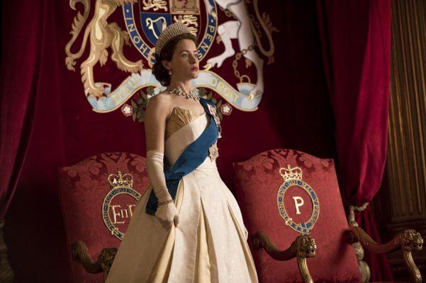 The Crown - Elizabeth - Elizabeth at Prince Philip's investiture