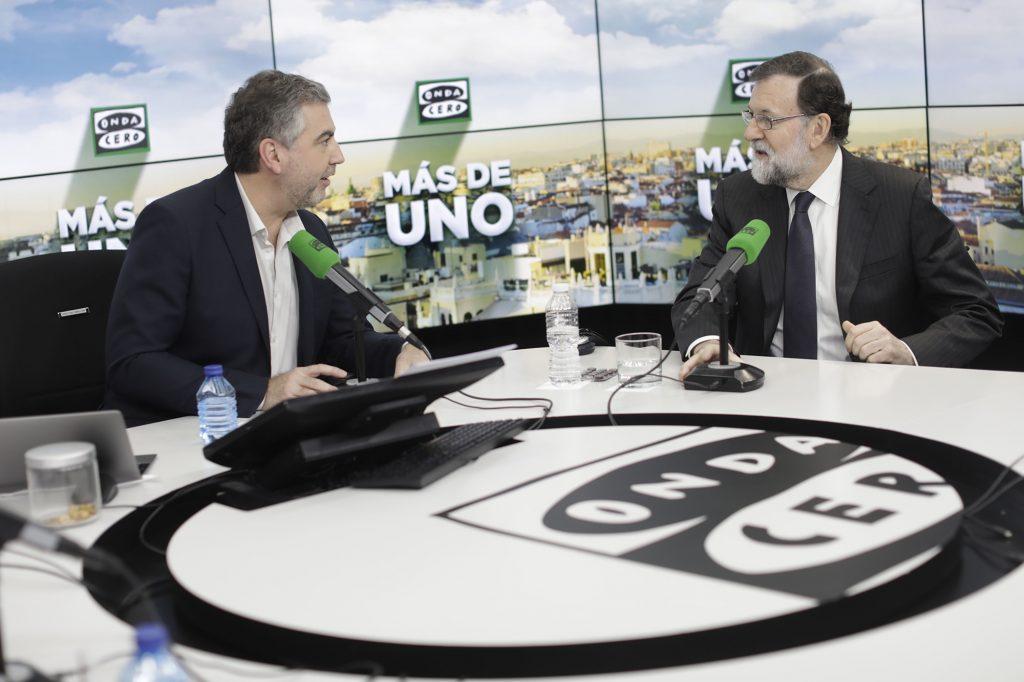 Mariano Rajoy, ha visitado Más de Uno en Onda Cero, dónde le esperaba Carlos Alsina